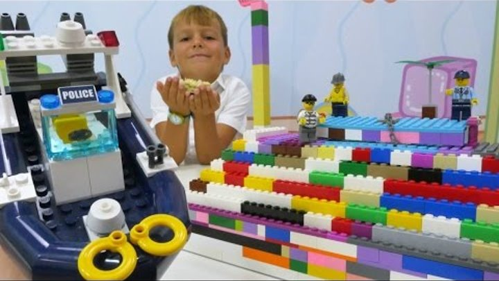 Лего (Lego) — конструктор: Селим в лего-городе! Ищем кристалл. Игры для детей