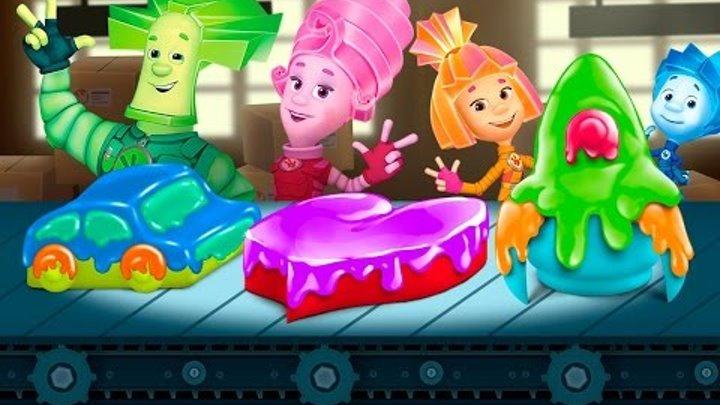 Фиксики новые серии - На кухне Симка и Нолик готовят Торт, Шоколад все Развивающие Игры для детей