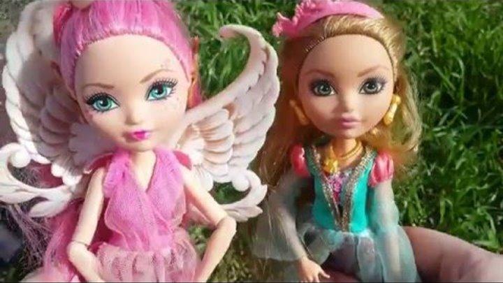 Эвер Афтер Хай. Кьюпид и Эшлин - встреча в лесу. Видео с куклами