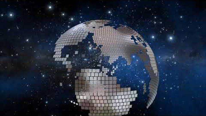 Вращающаяся планета Земля во Вселенной. 3D Fantasy Flight Of A Rotating Planet Earth In The Universe