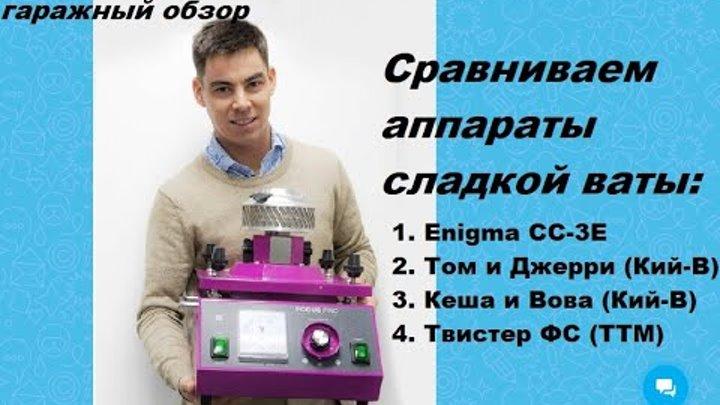 Обзор аппаратов сладкой ваты Enigma (китай), Том и Джерри, Кеша и Вова (Украина), ТТМ Твистер ФС(РФ)