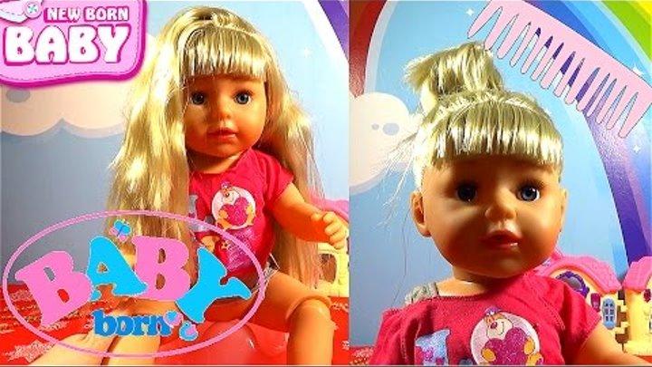 Новая Кукла Беби Бон 2017 одевается Маленький блогер Настя писает, кушает, плачет Канал про игрушки