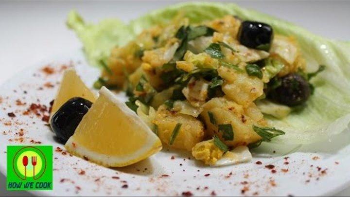 Картофельный салат. Yumurtalı patates salatası. Potato salad with eggs