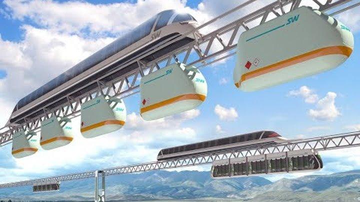 Ходовые испытания трех видов транспорта Sky Way