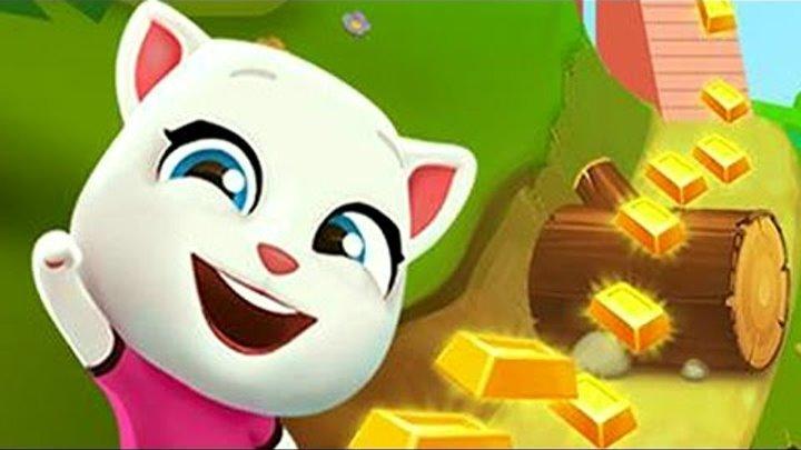 Говорящий Кот Том ЗА ЗОЛОТОМ Говорящая Анджела Детский канал Игровой мультфильм игра видео для детей