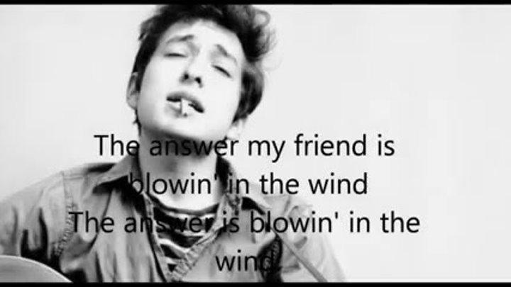 Bob Dylan-Blowin' in the wind-lyrics