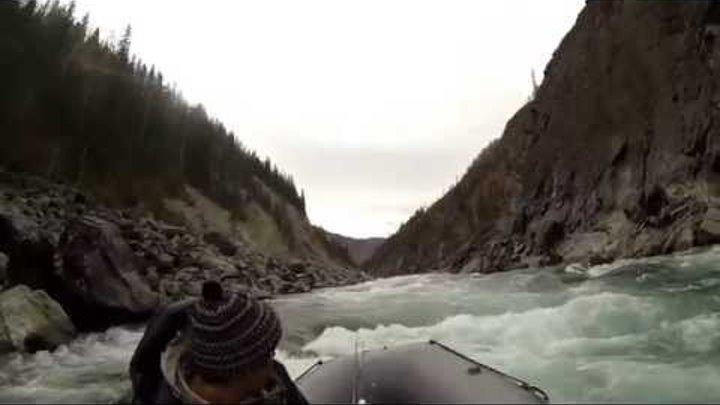 река Катунь. Аккемский прорыв в два конца... Октябрь 2014г