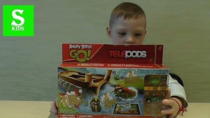 Игрушки Энгри Бёрдс Гоу Телеподс на русском языке. Angry Birds Go Telepods Toys! Sasha Kids