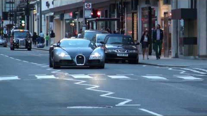2010 07 05 Supercar Spots; Veyron x2, SLR x2, 458, LP670-4SV x2, SLS etc...