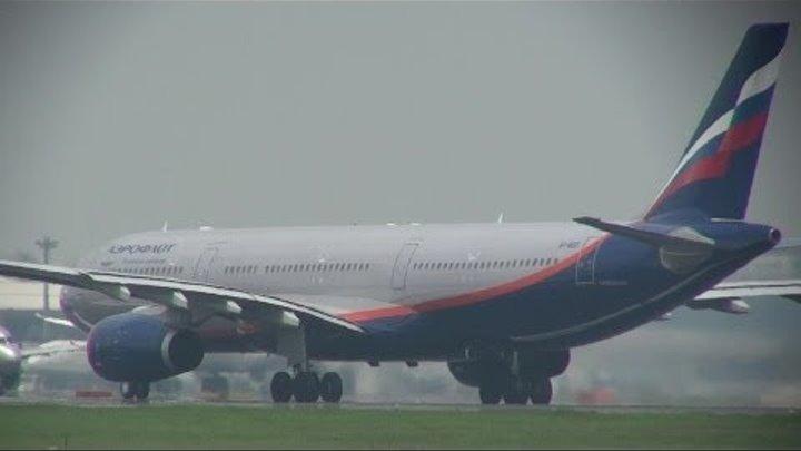 Аэрофлот А330-300 взлет из Токио-Нарита / Aeroflot A330-300 takeoff from Tokyo-Narita