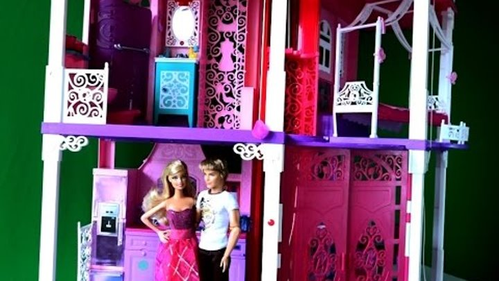 Видео с Барби, Барби и подарок Кена, Дом мечты для Барби игрушки для детей A dream house for Barbie
