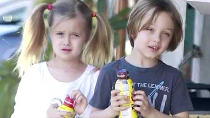 Анджелина Джоли и Брэд Питт бьют детей?