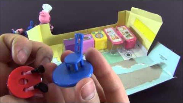 Свинка Пеппа открываю коробку Кухня Пеппы. Игровой набор кухня Пеппы