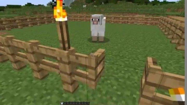 Как сделать ферму животных в minecraft загон для животных ...