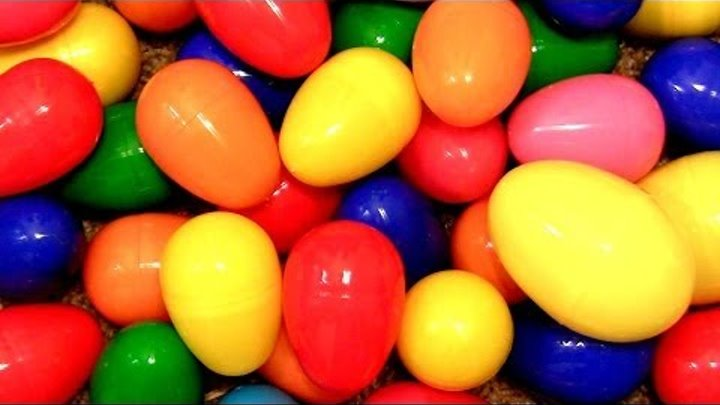 50 Surprise Eggs!! Angry Birds Thomas Spider-man Pixar Cars 2 Disney Monsters University Marvel toys