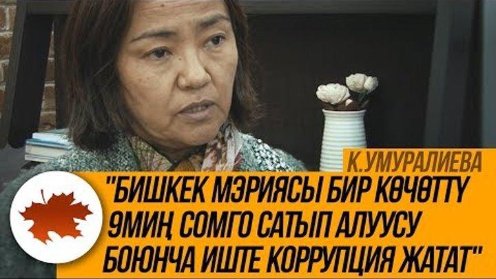 """К.Урмалиева: """"Бишкек мэриясы бир көчөттү 9миң сомго сатып алуусу боюнча иште коррупция жатат"""""""