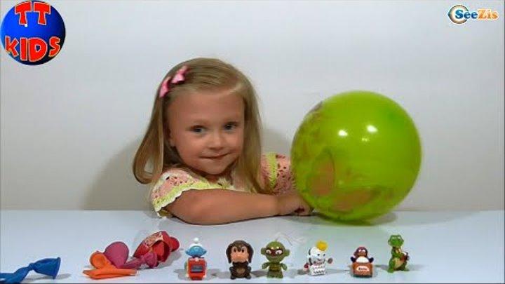 Видео для детей Лунтик Смурфик Киндер Джой Игрушки для детей Маленькая девочка Ярослава Серия 8