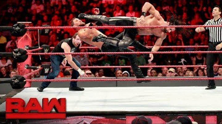 Dean Ambrose & Seth Rollins vs. The Miz & The Miztourage - Handicap Match: Raw, July 24, 2017