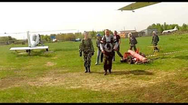 Skydiving Perm Первый прыжок с парашютом в тандеме Анастасии. Пермь. 23.05.2015г.