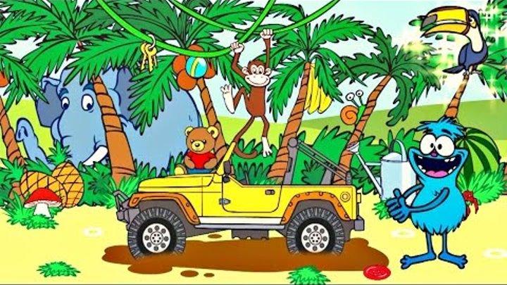 Dessin animé #dessinanimé. Choocha #choucha et un jeu éducatif #jeuxéducatifs. ANIMAUX de JUNGLE