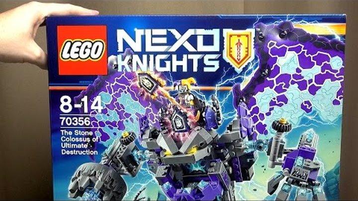 LEGO Nexo Knights 70356 Каменный великан-разрушитель Распаковка набора Лего 2017 Нексо Найтс 4 сезон