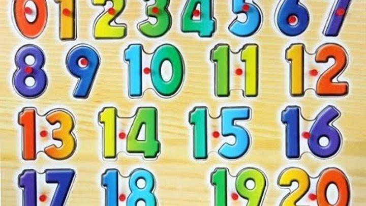 Английский детям.Числительные на английском от 1 до 20. English for kids. Learn numbers 1-20