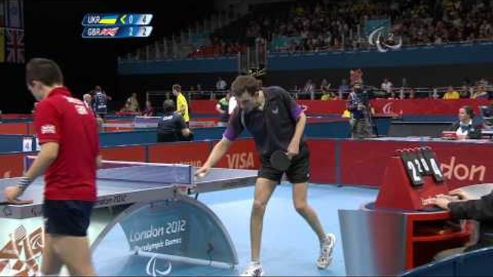 Table Tennis - Men's Singles - Class 7 Semi final GBR v UKR - 2012 London Paralympic Games
