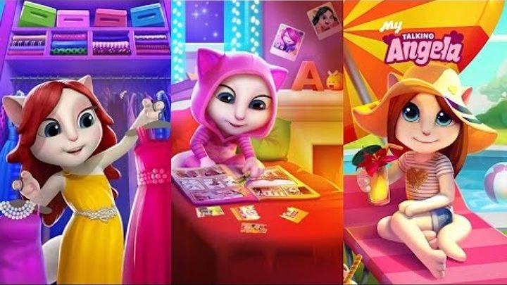Моя Говорящая Анджела Игра для андроид Говорящий Том и друзья игры Кошка Анжела Видео для детей #3