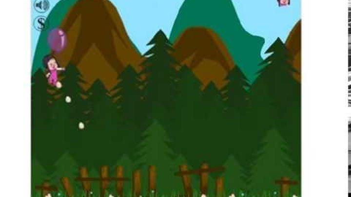 Игра Маша и медведь на воздушном шаре видео