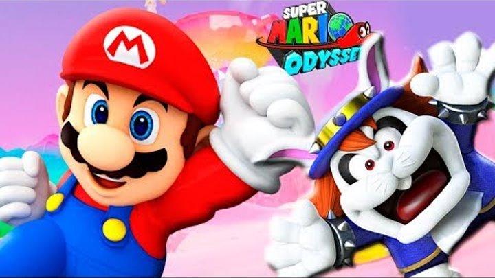 СУПЕР МАРИО ОДИССЕЙ #14 БОСС УШАСТИК Королевство Завтрака Прохождение игры Super Mario Odyssey BOSS