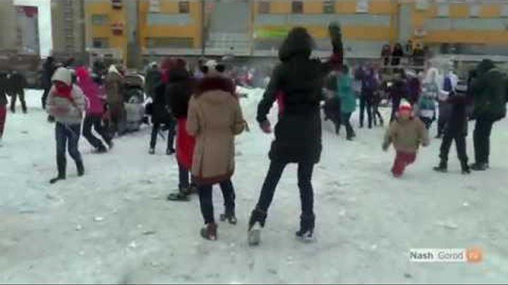 snow combat снежная битва у трц Гудвин Тюмени