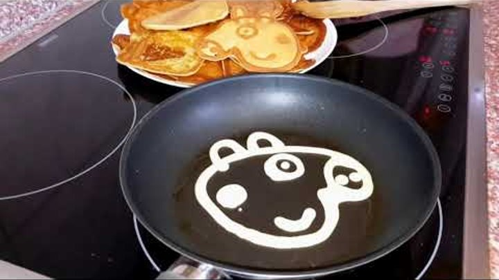 Свинка Пеппа блины для детей Peppa Pig pancakes for kids