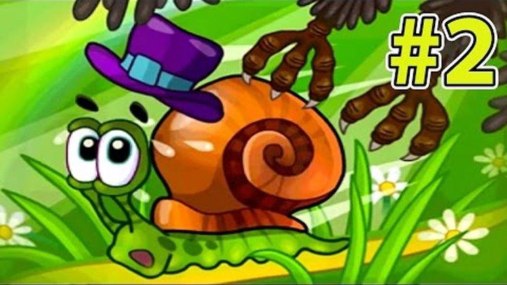 УЛИТКА БОБ #2 - Лесная история. Часть 1. Мультик ИГРА iOS для детей. Несносный боб 2 на Игрули TV.