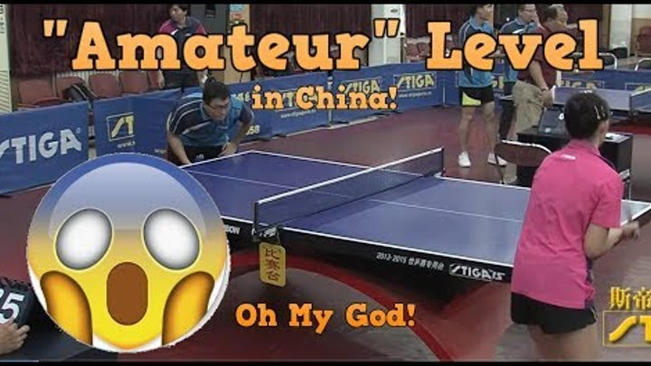 """Table Tennis """"Amateur"""" Level in China (Wow)"""