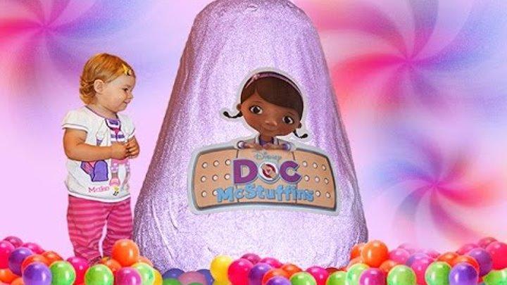 ✿ Doc McStuffins GIANT Surprise EGG Disney Junior toys Доктор Плюшева огромное яйцо с сюрпризами