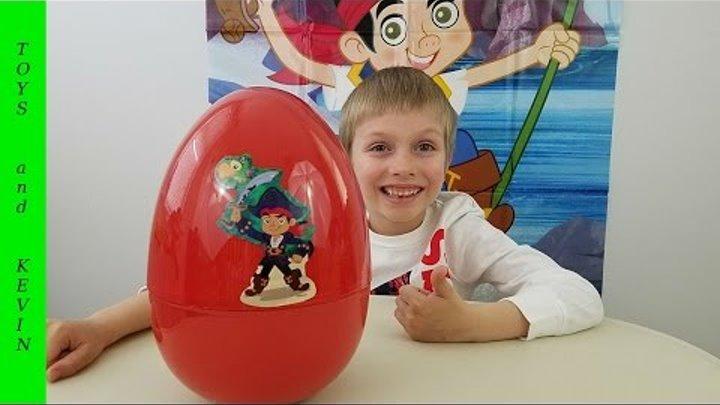 Большое яйцо с сюрпризом ДЖЕЙК И ПИРАТЫ НЕТЛАНДИИ Киндер сюрприз