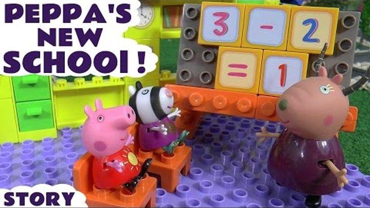 Peppa Pig English Episode Duplo New School ABC 123 Play Doh Thomas and Friends Juguetes de Peppa