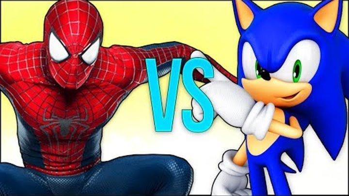 SONIC VS SPIDER-MAN | СУПЕР РЭП БИТВА | Соник бум ежик ПРОТИВ Человек Паук фильм MARVEL spiderman