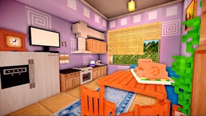 КУХНЯ и СПАЛЬНЯ в майнкрафт - Серия 33 - Minecraft - Строительный креатив 2