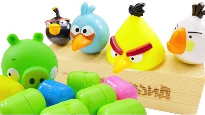 Игры ЭНГРИ БЕРДЗ смотреть Angry Birds видео для детей с игрушками ангри бердс