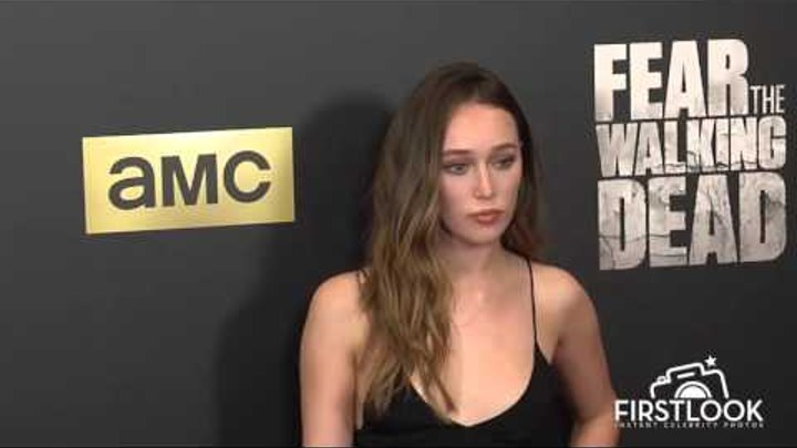 Alycia Debnam Carey arrives at the Fear The Walking Dead Season 2 Premiere in Los Angeles