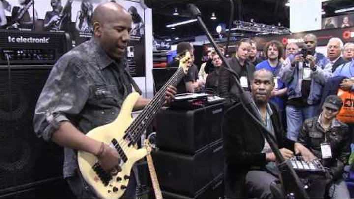 Nathan East performing at TC Electronic 1