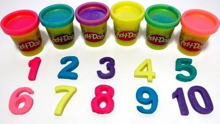 Учим цифры от 1 до 10 на английском языке с пластилином Play-Doh. Счёт от 1 до 10 на английском.