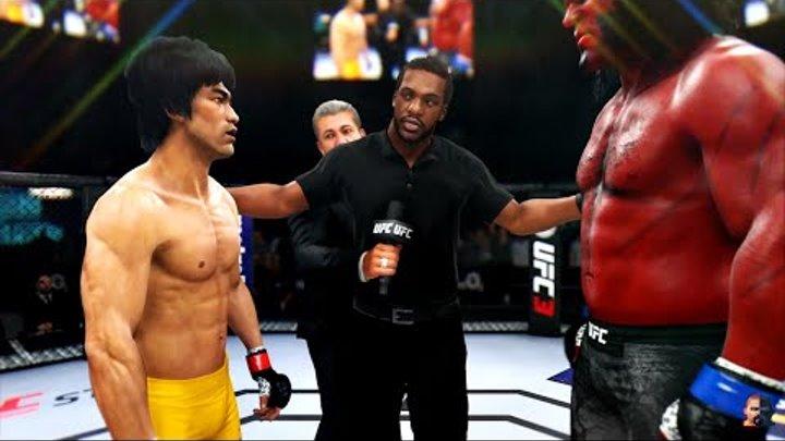 BRUCE LEE vs HELLBOY 2K19 | EA Sports UFC 3