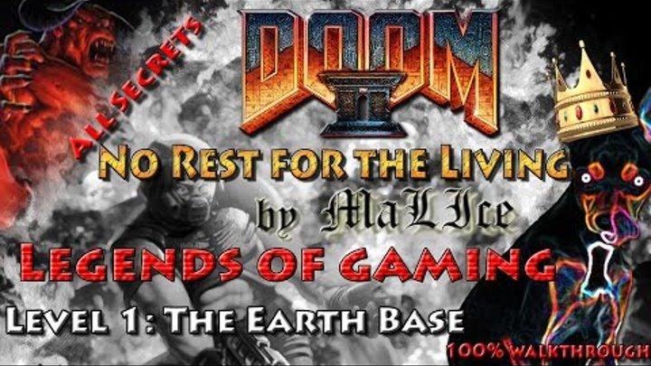 Doom Ii Gzdoom No Rest For The Living 100 Walkthrough Level 1