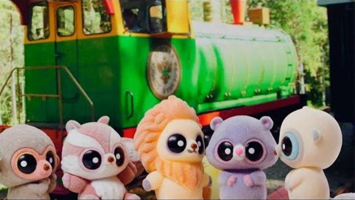 Мультик с игрушками: Герои мультфильма Юху и его друзья в Новосибирске: Детская железная дорога