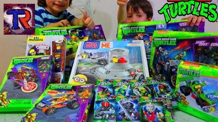 Распаковка посылок с Черепашки Ниндзя и Миньоны.TMNT and Minions Games. Unpacking parcels with toys