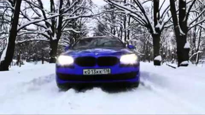 BMW 5-Синий хром (BMW F10 5 Series blue chrome)