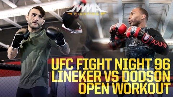 UFC Fight Night 96: Lineker vs. Dodson Workout Highlights