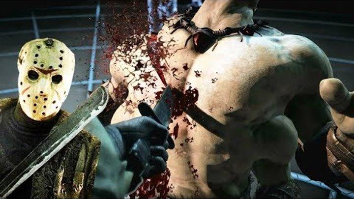 Mortal Kombat X Jason All Fatalities and Brutalities + X Ray + Ending 【HD】 Mortal Kombat 10 Fatality